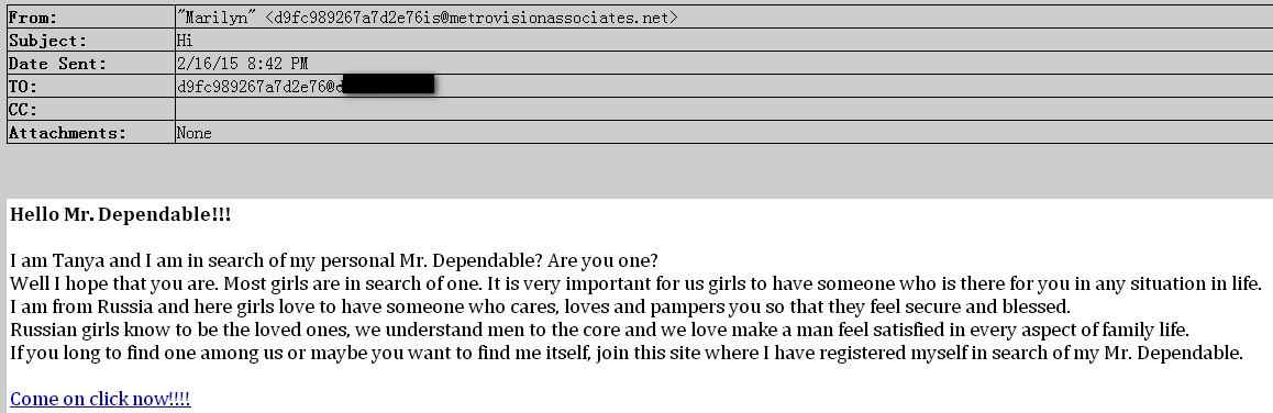 Russia  girls色情推广垃圾邮件的拦截